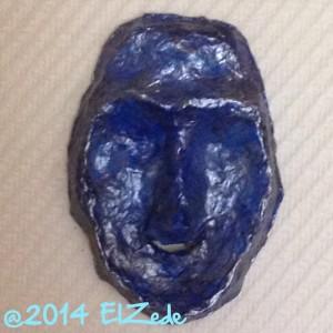 Masque bleu - Premieres couches de bleu